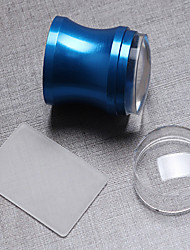 1PC Blue Aluminum Alloy The Seal With Cover+ Scraper 3.8 cm Transparent Seal Head