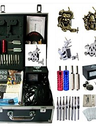 Basekey Tattoo Kit K0194 4Guns Machine With Power Supply Grips Cleaning Brush Needles