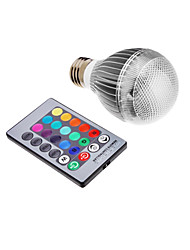 3w e26 / e27 led globe bulbs intégrer led rgb commandé à distance ac 85-265 v