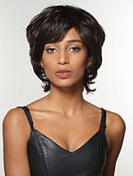 étonnante coiffure courte vague remy capless de cheveux humains perruque de femme