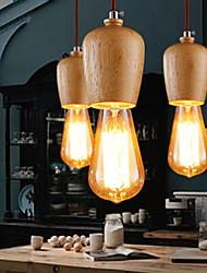 New Village Personality Nordic Wood Single Head Pendant Light Art Home Decor Restaurant Lighting Fixture Lamp