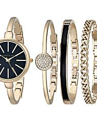 marca de luxo relógios das mulheres relógio e um conjunto de pulseira pulseira de moda feminina + assistir conjuntos relógios idéia do
