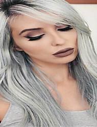 3pcs / lot extensiones baratas brasileñas virginales rectas ombre gris plata pelo 1b / gris de dos tonos tejer del pelo humano