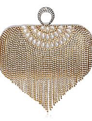 L.west Women Tassel Diamonds Evening Bag