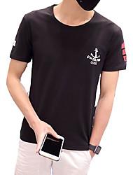 The new summer summer men's short sleeved t-shirt t-shirt cotton T-shirt jacket slim half sleeve youth tide