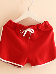 Garcon Pants Shorts Children Boys Unisex Children's Summer Casual Candy Color Pants Shorts White Bow Girls Boys