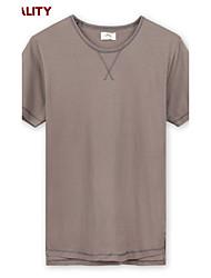 Trenduality® Hombre Escote Redondo Manga Corta Camiseta Rojo / Marrón-ZZ014