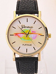 Momen's  New Geneva Simple Pastoral Leaf Table Cool Watches Unique Watches