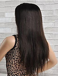 "10""-26"" Brazilian Virgin Full Lace Human Hair Lace Wigs Glueless Full Lace Front Wig Natural Black Straight Wigs"