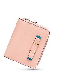 NAWO Women Cowhide Wallet Pink / Blue-N352101