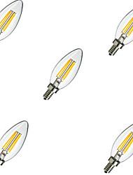4W E14 Ampoules à Filament LED C35 4 LED Haute Puissance 400 lm Blanc Chaud Blanc Froid Décorative AC 100-240 V 5 pièces