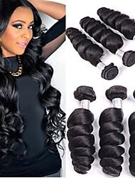 """3 PC / porción de 8 """"26"""" pelo brasileño onda floja extensiones de cabello humano virginal brasileño sin procesar del pelo teje venta"""