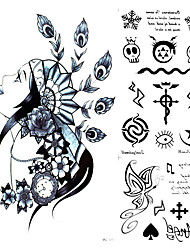 1Pcs Waterproof Tribal Tattoo Style Indian Art Temporary Body Art Tattoo Sticker