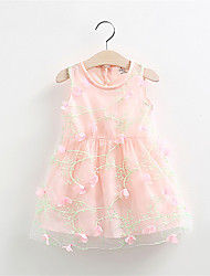 2016 New Cute Infant Baby Girls Outfits Kids Children Lace Floral Voile Wedding Party Dresses Little Girl Clothes