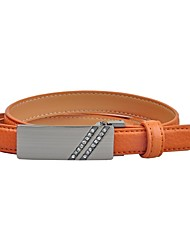 L.WEST® Women's Leather Smooth Buckle Belt