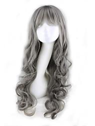 best-seller de l'Europe et les États-Unis une perruque grise Bang soignée perruques de cheveux bouclés