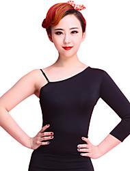 Dança Latina Malha Mulheres Treino Náilon Chinês / Elastano / Veludo Padrão/Estampado 1 Peça Meia manga Malha CollantM:68cm-70cm