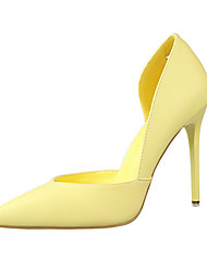 Women's Shoes Leatherette Stiletto Heel Heels Heels Casual Black / Yellow / Pink / Red / White / Gray