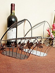 New Creative Basket Wine Rack Wine Bottle Racks Decorative Fashion Home Furnishing Wire Technology Wine Holders