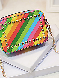 Women PU Shoulder Bag Multi-color