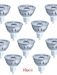 10pcs HRY® 3W MR16 260LM Light LED Spot Bulb(12V)