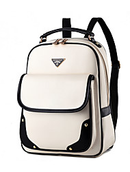 Women PU Shell Backpack