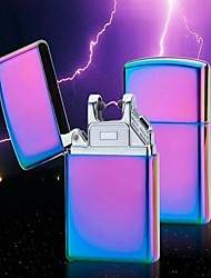 cigarro eletrônico mais leve à prova de vento de metal pulso usb sem chama recarregável arco elétrico charuto isqueiro