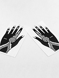 India Temporary PVC Henna Tattoo Sticker Printing Airbrush Tattoo Stencils