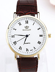 Men's Watch Quartz Fashion Watch Leather Band Wrist watch Cool Watch Unique Watch