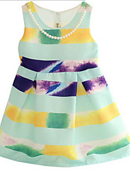 Girl's Dress,Cotton Summer Green