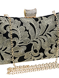 L.WEST Women The Embroidery Pattern Evening Bag