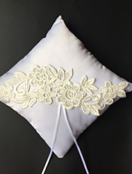 White 1 Ribbons Embroidery Satin