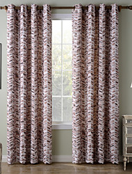 Chadmade SOFITEL Contemporary Heat Tranfer Print Colorful Dash Herringbone Pattern - Lined Curtain -Brown