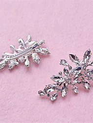 Women's / Flower Girl's Rhinestone / Crystal / Alloy Headpiece-Wedding / Special Occasion Hair Clip 2 Pieces