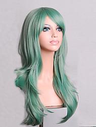 la mode dessin animé de couleur perruques colorées spéciale mascarade 70 cm menthe perruque verte