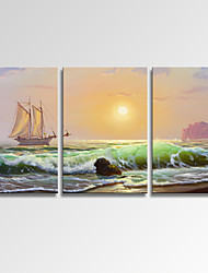 VISUAL STAR®Sailing Boat on Sea Wall Art for Home Decor Seascape Giclee Print on Canvas Ready to Hang