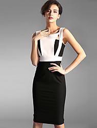 Baoyan® Femme A Bretelles Sans Manches Au dessus des genoux Robes-150885
