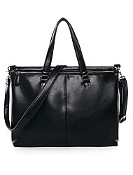 Men PU Doctor Shoulder Bag / Tote / Laptop Bag-Black