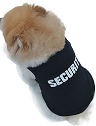 Cat / Dog Shirt / T-Shirt Black Dog Clothes Summer Police/Military Wedding / Cosplay / Fashion