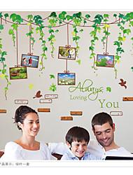 Botanical Green Vine Photo Wall Stickers Romance / Fashion / Shapes / 3D Wall Stickers Plane Wall Stickers,pvc 60*90cm