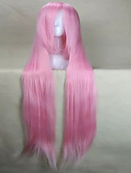 Fashion Cosplay Wig Pink Synthetic Hair Woman's  Long Straight Animated Wigs Cartoon Wigs  Full Wig Party Wig