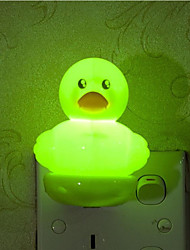 Creative Warm White Light Sensor Duck Relating to Baby Sleep Night Light(Assorted Color)