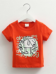 Leisure Puppy Alphabet Boys Clothing Baby Child T-Shirt
