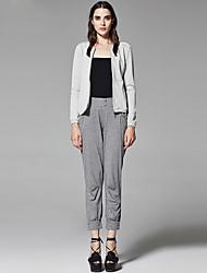 ZigZag® Women's Round Neck Long Sleeve Hoodie & Sweatshirt Purple / Dark Green / Dark Gray - 11008