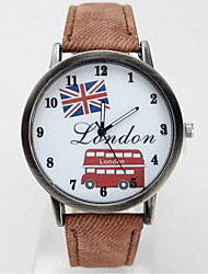 Women's Fashionable Leisure Cartoon flag pattern Watch Leather Band Cool Watches Unique Watches