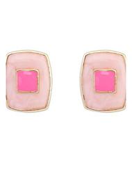 2016 Popular New Fashion Beautiful Jewelry Women's Pink Light Blue Alloy Pierced Stud Earrings