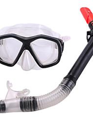 Máscara de Mergulho Kit para Snorkel Snorkels Mergulho e Snorkeling PVC