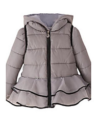 Girl's Down & Cotton Padded,Cotton Winter Gray