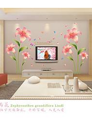 Romantika / Módní / květiny Samolepky na zeď Samolepky na stěnu,pvc 60*90cm