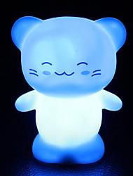 criativa gato feliz colorido que muda de cor levou luz noturna